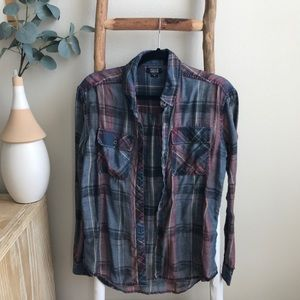 Pacsun Nollie Red and Blue Flannel